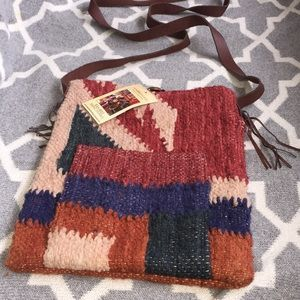 Handbags - New handwoven boiled wool boho crossbody!!